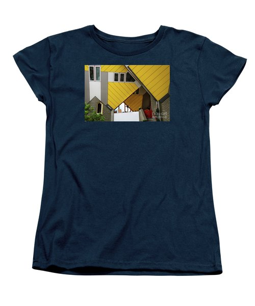 Women's T-Shirt (Standard Cut) featuring the photograph Cube Houses Detail In Rotterdam by RicardMN Photography