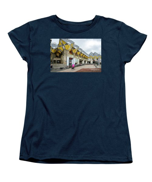 Women's T-Shirt (Standard Cut) featuring the photograph Cube Houses In Rotterdam by RicardMN Photography