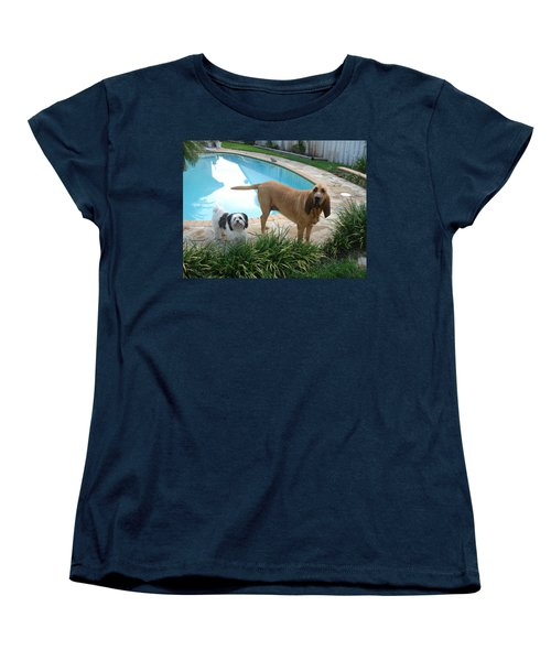 Cujo And Lucky Women's T-Shirt (Standard Cut) by Val Oconnor