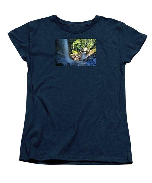 Cullasaja Falls Lookout Women's T-Shirt (Standard Cut) by James Potts