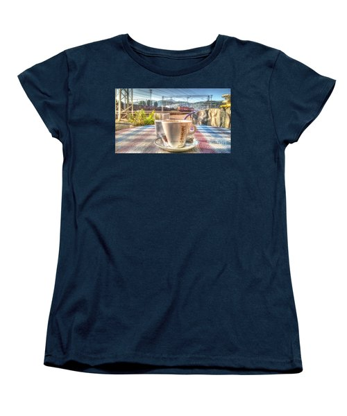 Cup Of Coffee On A Sunny Day Women's T-Shirt (Standard Cut) by Yury Bashkin