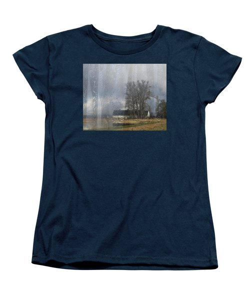 Curtains Of The Mind Women's T-Shirt (Standard Cut) by I'ina Van Lawick