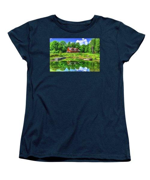 Women's T-Shirt (Standard Cut) featuring the photograph Curtis Vance Memorial Apple Orchard by Jim Boardman