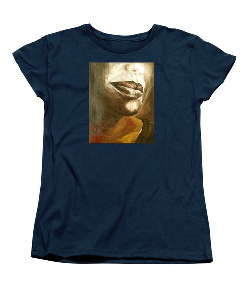 Women's T-Shirt (Standard Cut) featuring the painting Curves  by Jane See