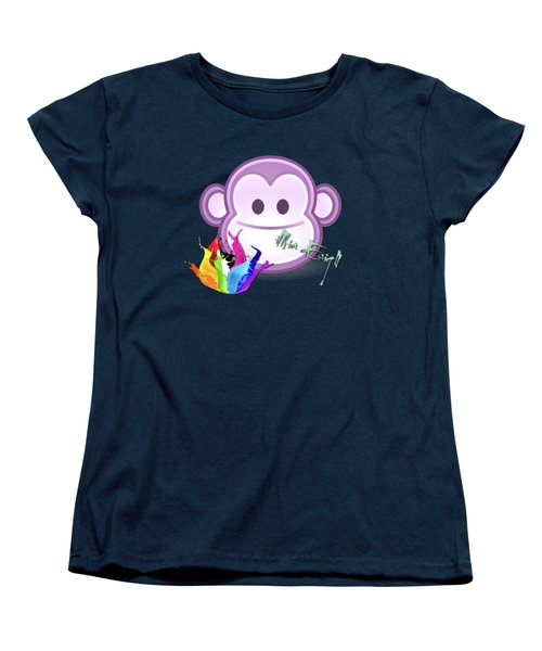 Cute Gorilla Baby Women's T-Shirt (Standard Cut) by iMia dEsigN