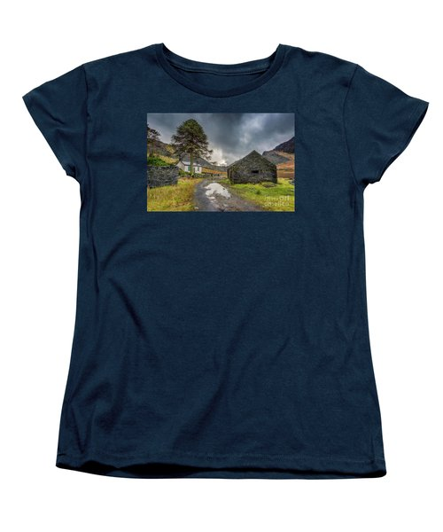 Women's T-Shirt (Standard Cut) featuring the photograph Cwmorthin Slate Ruins by Adrian Evans
