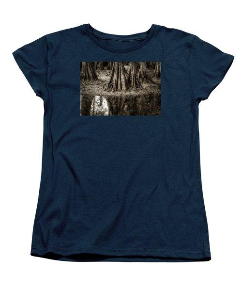 Cypress Island Women's T-Shirt (Standard Cut) by Andy Crawford