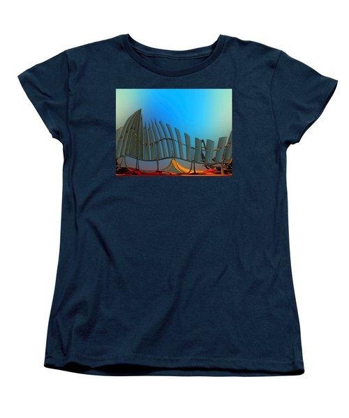Da Vinci's Outpost Women's T-Shirt (Standard Cut) by Wendy J St Christopher