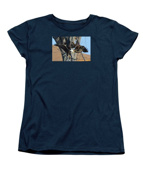 Women's T-Shirt (Standard Cut) featuring the photograph Dad And Junior With Fish by Coby Cooper