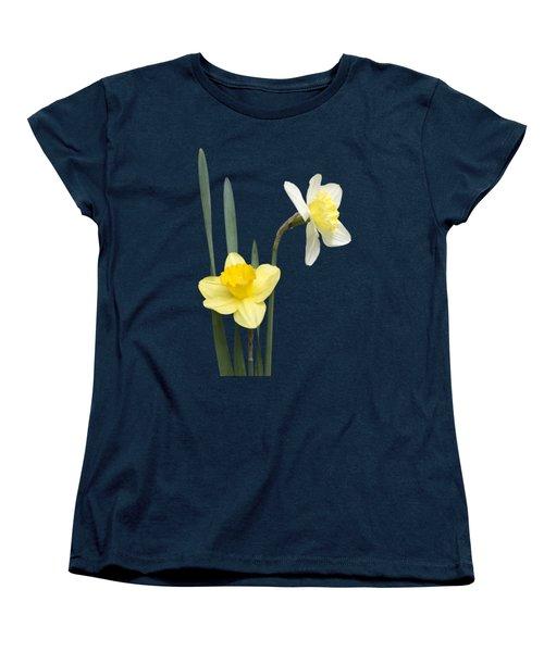 Women's T-Shirt (Standard Cut) featuring the photograph Daffodil Pair - Transparent by Nikolyn McDonald