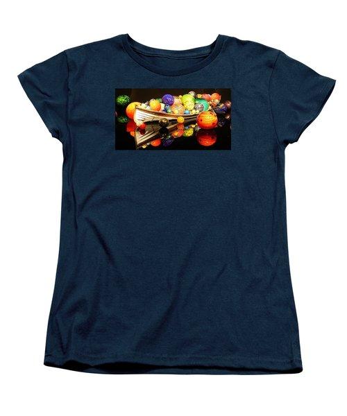 Glass Sculpture Boat Women's T-Shirt (Standard Cut) by Bruce Bley