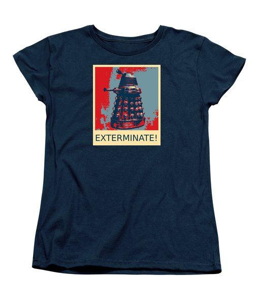 Dalek - Exterminate Women's T-Shirt (Standard Cut) by Richard Reeve