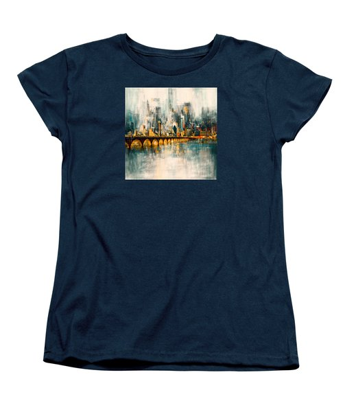 Dallas Skyline 217 3 Women's T-Shirt (Standard Cut) by Mawra Tahreem