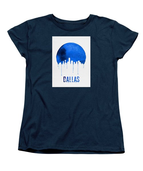 Dallas Skyline Blue Women's T-Shirt (Standard Cut) by Naxart Studio