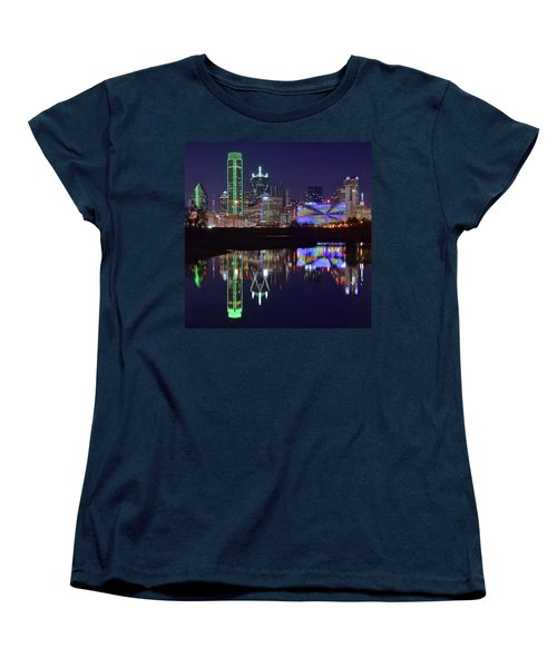 Women's T-Shirt (Standard Cut) featuring the photograph Dallas Texas Squared by Frozen in Time Fine Art Photography