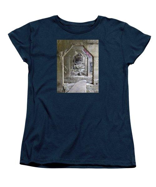 Women's T-Shirt (Standard Cut) featuring the photograph Dam Above Garwin Falls, Wilton, Nh by Betty Denise