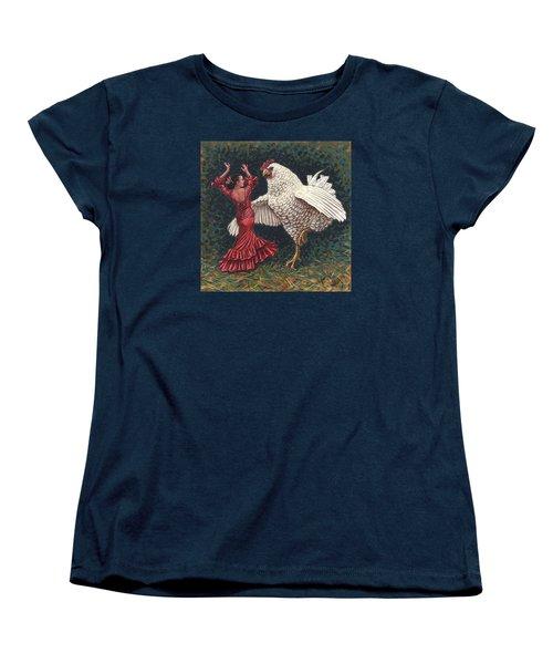 Dancers El Gallo Women's T-Shirt (Standard Cut) by Holly Wood