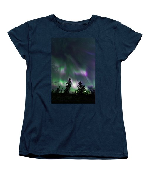 Dancing Lights Women's T-Shirt (Standard Cut) by Dan Jurak