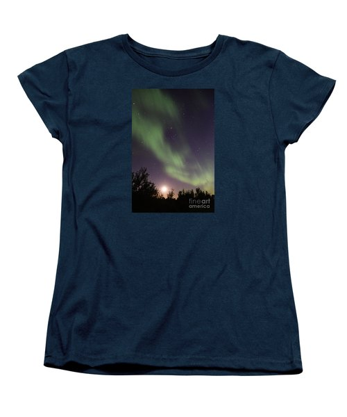 Women's T-Shirt (Standard Cut) featuring the photograph Dancing With The Moon by Larry Ricker