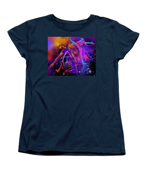 Dancing With The Universe Women's T-Shirt (Standard Cut) by DC Langer