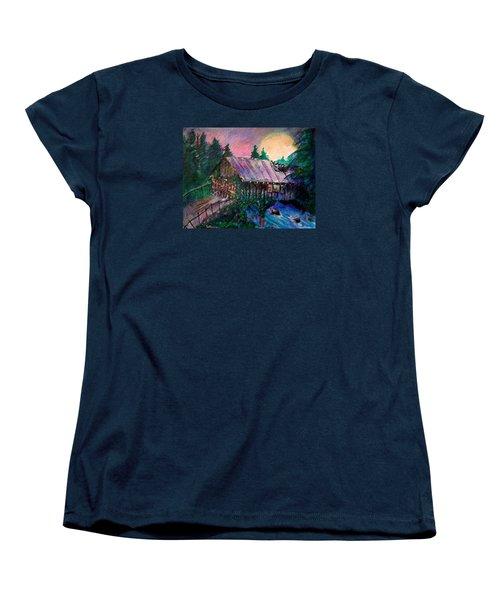 Dangerous Bridge Women's T-Shirt (Standard Cut) by Seth Weaver
