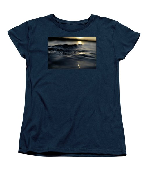 Women's T-Shirt (Standard Cut) featuring the photograph Dark Atlantic Traces by Laura Fasulo