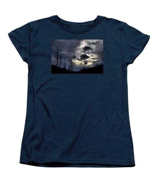 Women's T-Shirt (Standard Cut) featuring the photograph Dark Clouds by Tara Turner