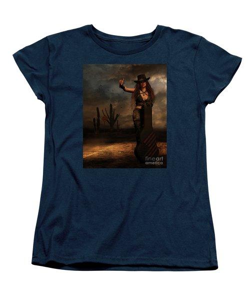 Dark Desert Highway Women's T-Shirt (Standard Cut) by Shanina Conway