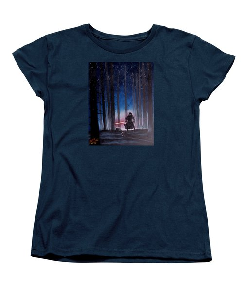 Women's T-Shirt (Standard Cut) featuring the painting Dark Jedi by Dan Wagner