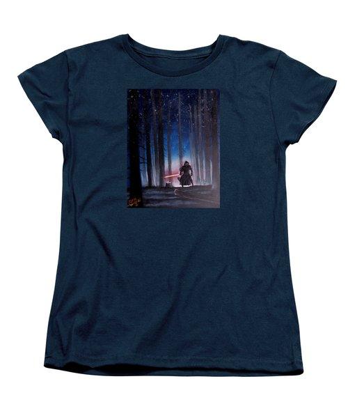 Dark Jedi Women's T-Shirt (Standard Cut) by Dan Wagner