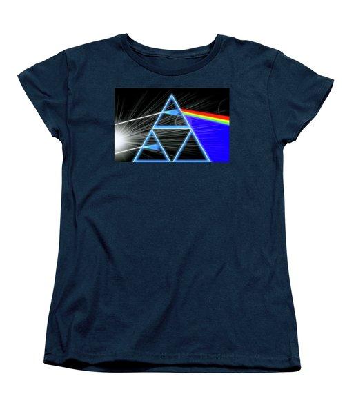 Women's T-Shirt (Standard Cut) featuring the digital art Dark Side Of The Moon by Dan Sproul