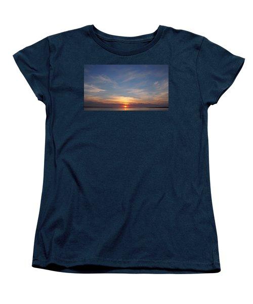 Women's T-Shirt (Standard Cut) featuring the photograph Dark Sunrise by  Newwwman