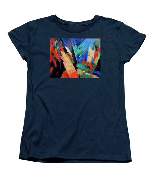 Women's T-Shirt (Standard Cut) featuring the painting Darkness And Light by Gary Coleman