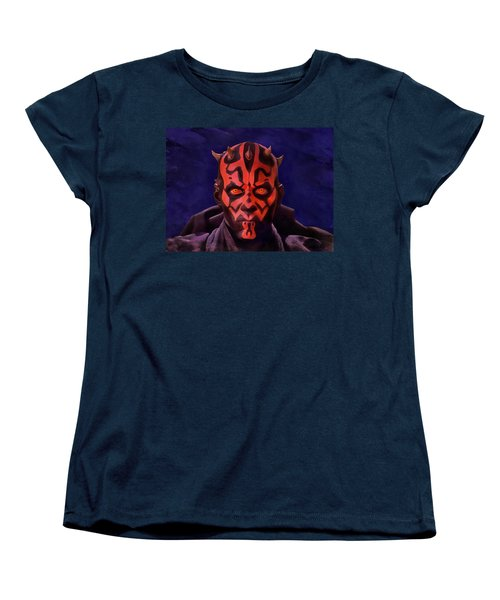 Darth Maul Dark Lord Of The Sith Women's T-Shirt (Standard Cut) by Sergey Lukashin