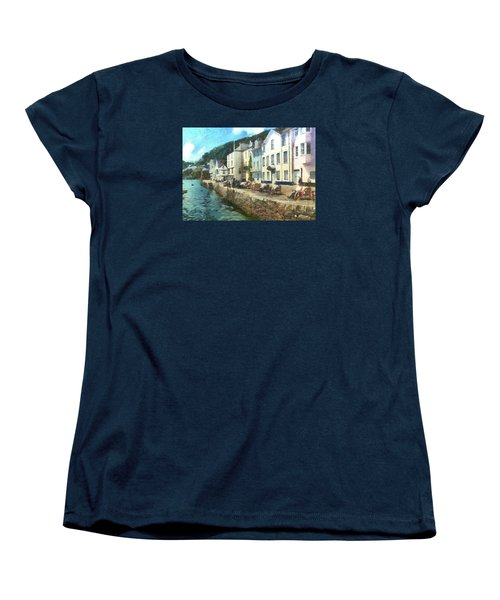 Women's T-Shirt (Standard Cut) featuring the digital art Bayards Cove Dartmouth Devon  by Charmaine Zoe