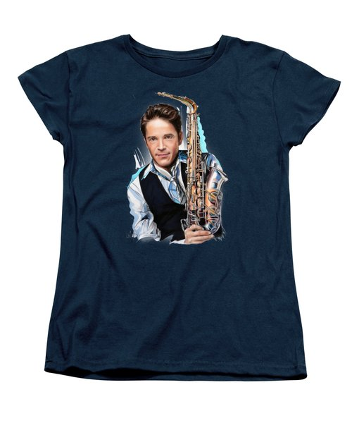Dave Koz Women's T-Shirt (Standard Cut) by Melanie D