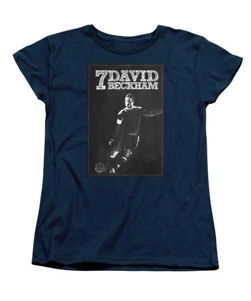 David Beckham Women's T-Shirt (Standard Cut) by Semih Yurdabak