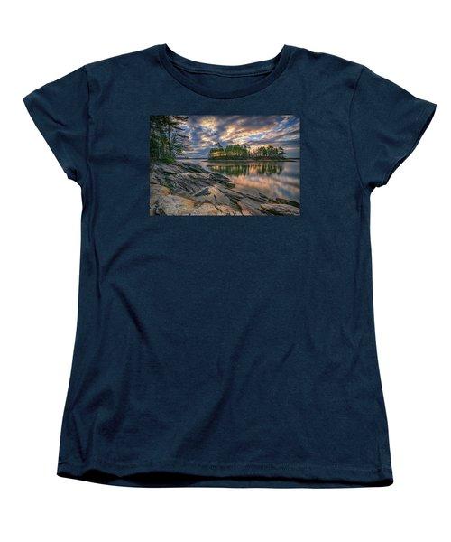 Women's T-Shirt (Standard Cut) featuring the photograph Dawn At Wolfe's Neck Woods by Rick Berk