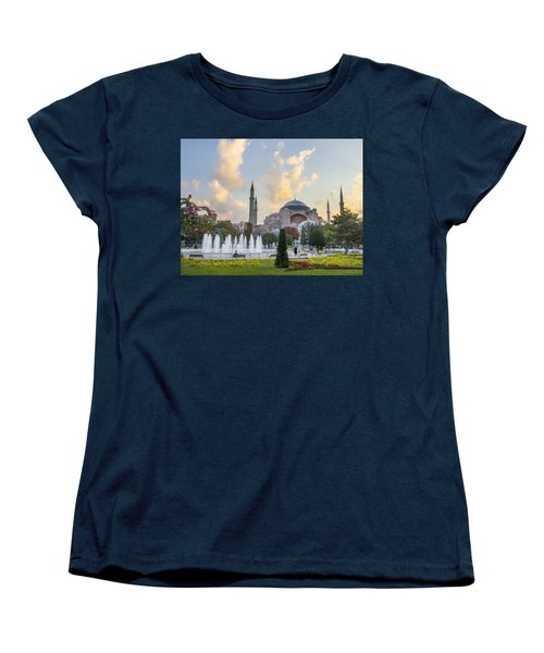 Dawn Hagia Sophia Istanbul Women's T-Shirt (Standard Cut) by Sally Ross