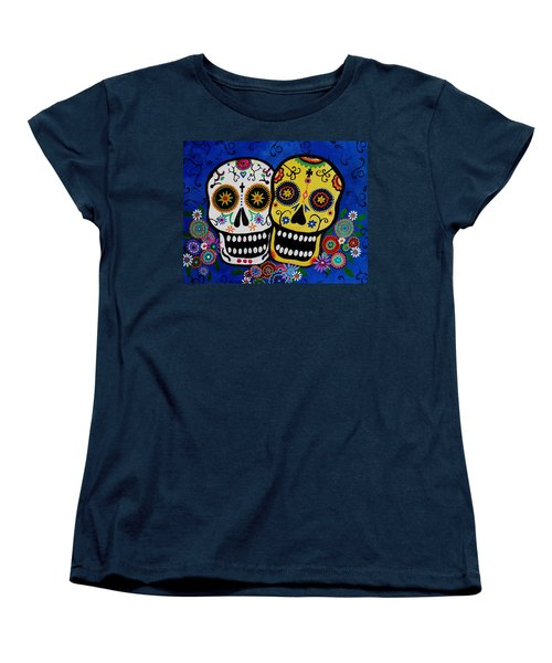 Day Of The Dead Sugar Women's T-Shirt (Standard Cut) by Pristine Cartera Turkus
