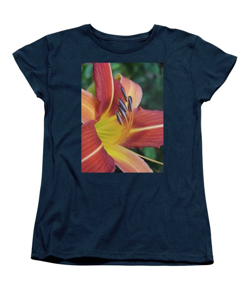 Women's T-Shirt (Standard Cut) featuring the photograph Daylilies Orange by Rebecca Overton