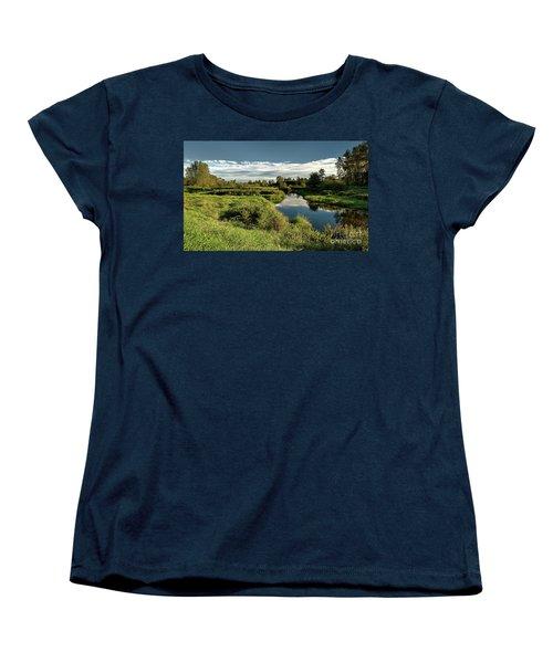 De Boville Slough At Pitt River Dike Women's T-Shirt (Standard Cut) by Rod Jellison