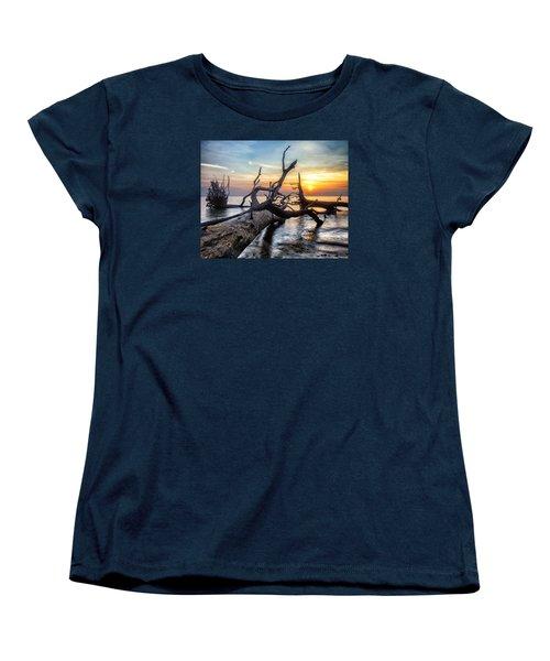 Women's T-Shirt (Standard Cut) featuring the photograph Deadwood Morning by Alan Raasch