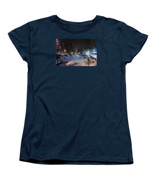 Women's T-Shirt (Standard Cut) featuring the photograph December On The Riverwalk by Perspective Imagery