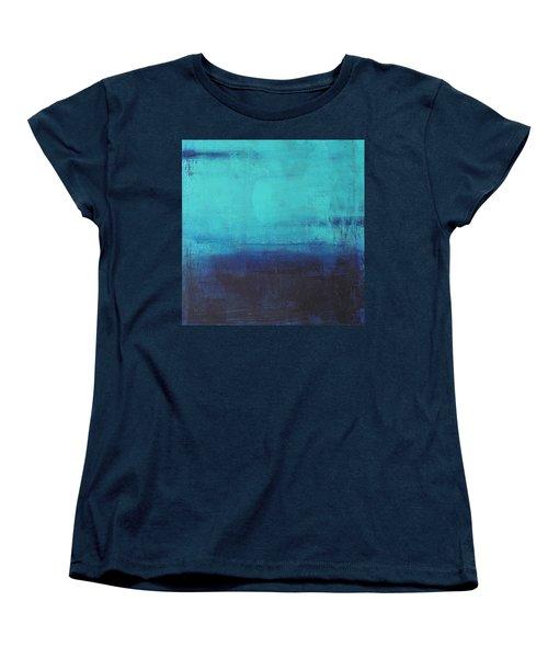 Women's T-Shirt (Standard Cut) featuring the painting Deep Blue Sea by Nicole Nadeau