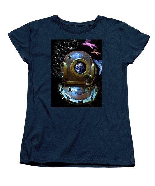 Deep Diver In Delirium Of Blue Dreams Women's T-Shirt (Standard Cut)