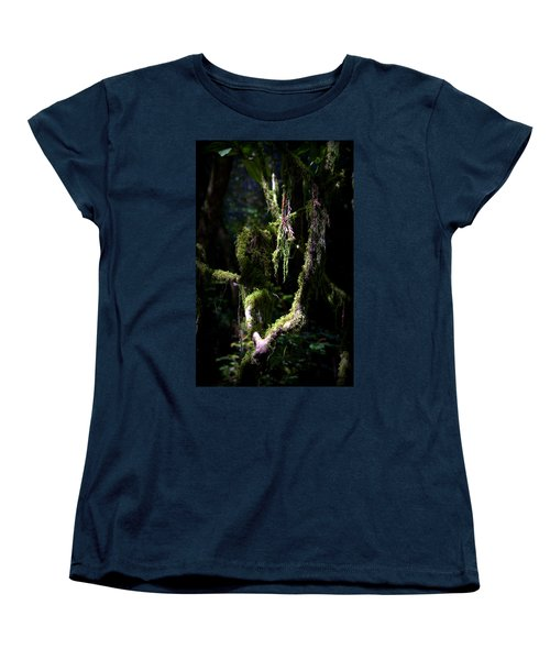 Women's T-Shirt (Standard Cut) featuring the photograph Deep In The Forest by Lori Seaman