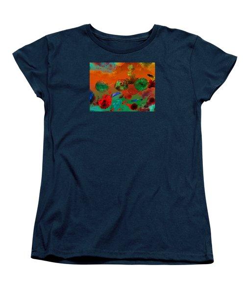 Deep In The Sea Women's T-Shirt (Standard Cut) by Haleh Mahbod