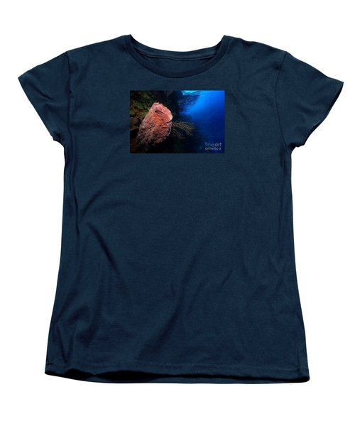 Women's T-Shirt (Standard Cut) featuring the photograph Deep Reef by Aaron Whittemore