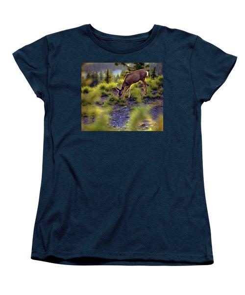 Deer At Crater Lake, Oregon Women's T-Shirt (Standard Cut)